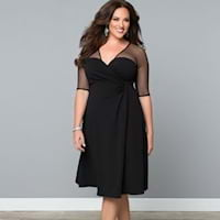 Plus size black dresses from Kiyonna