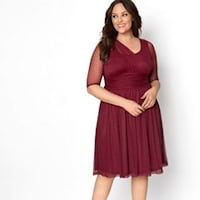 Plus size red dresses from Kiyonna