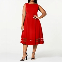 Plus size red dresses from Macy's